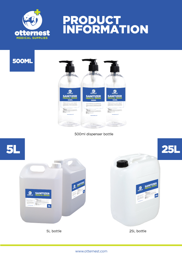 Otternest Sanitizer (Water Based) Product Packaging